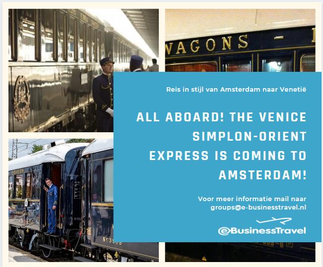Venice Simplon-Oriënt-Express komt naar Amsterdam