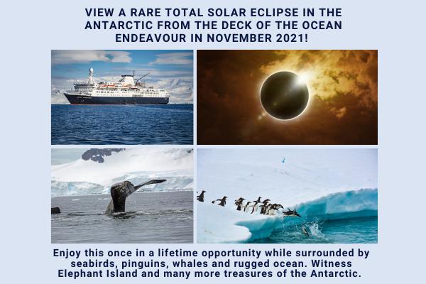 Bekijk een totale zonsverduistering vanaf Antarctica