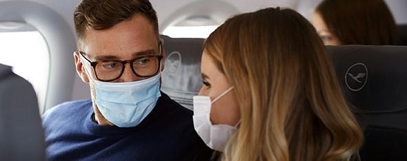 Strengere eisen voor mondmaskers bij Lufthansa