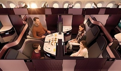 Qatar Airways brengt zijn bekroonde QSuite naar Amsterdam