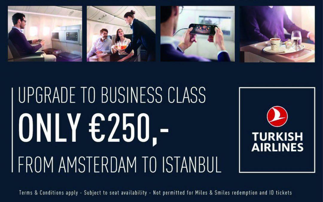 Upgrade naar de Business Class van Turkish Airlines